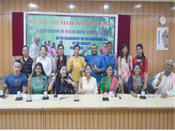 Catholic Bishop's Conference of India (CBCI) felicitates young achievers From among Tribals